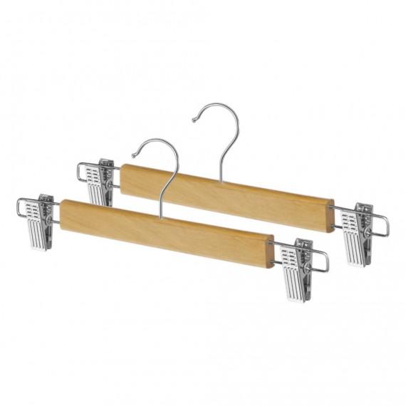 Набор из 2 деревянных вешалок для юбок с зажимами