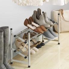 Хромированная раздвижная полка для обуви