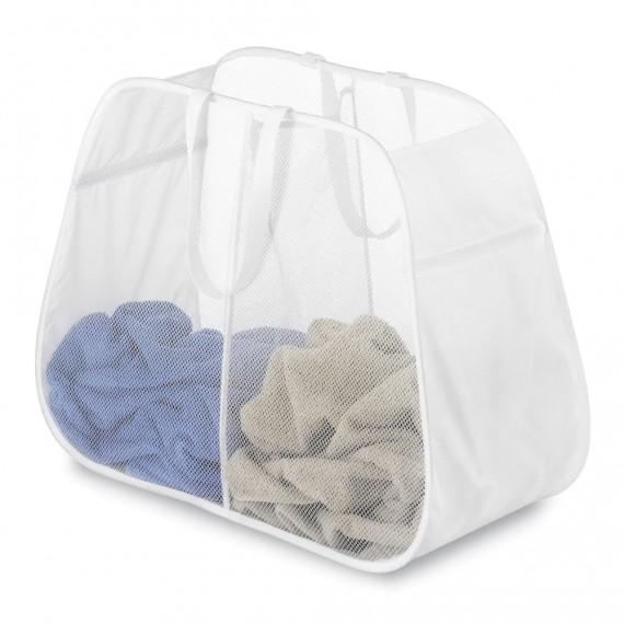 Складная корзина для белья с 2 отделениями Pop&Fold