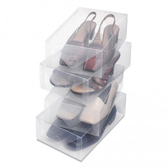 Набор пластиковых коробок для женской обуви
