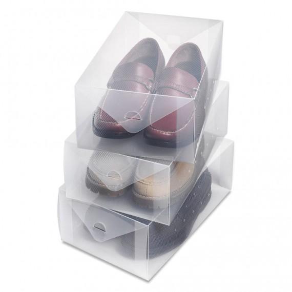 Набор пластиковых коробок для мужской обуви