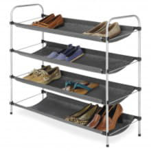 4-х уровневая текстильная полка для вещей и обуви