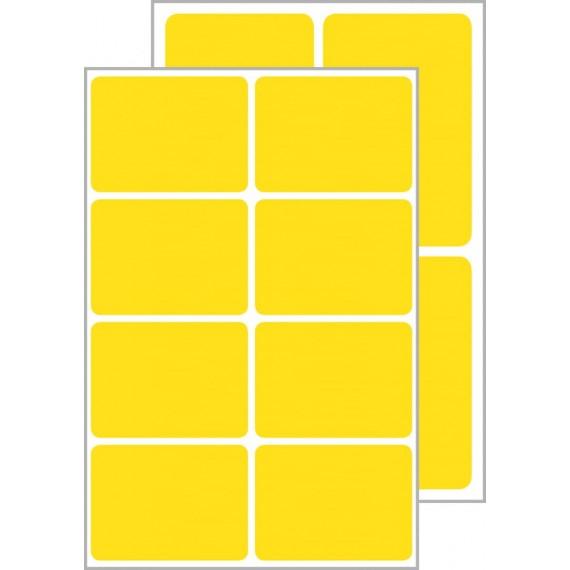 Всепогодные самоклеящиеся этикетки желтые 24 шт.