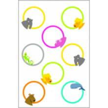 Самоклеящиеся цветные этикетки для игрушек, 32 шт.