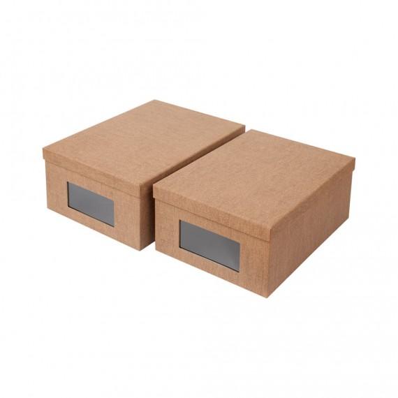 Набор из 2 коробок с окошком SIGISMUND