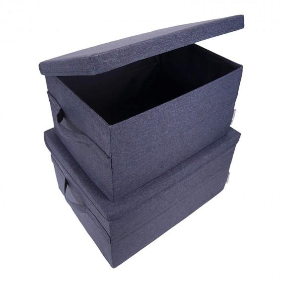 Синий кофр для хранения вещей BOX