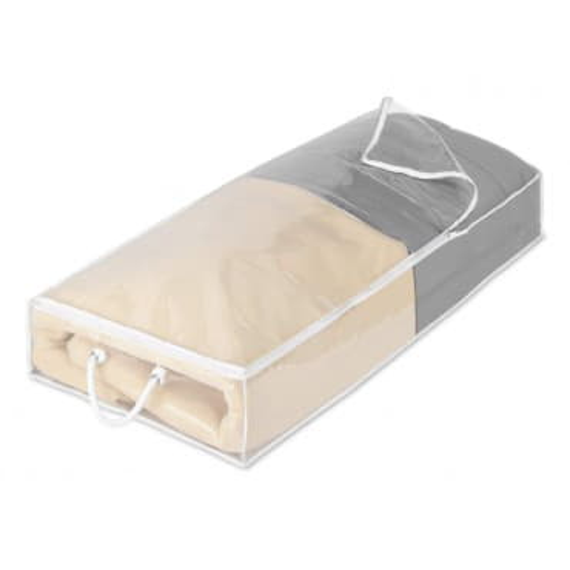 Большой прозрачный кофр для хранения вещей под кроватью