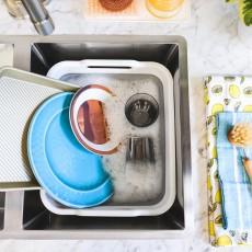Складная корзина для мытья посуды