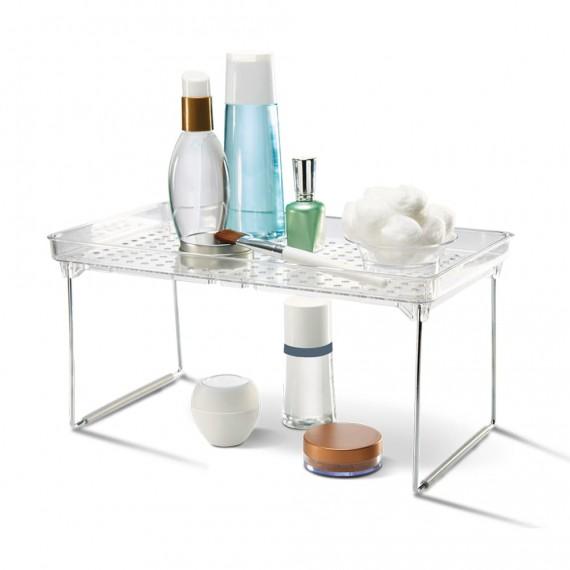 Прозрачная полка для ванной