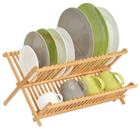 Складная сушилка для посуды Бамбук
