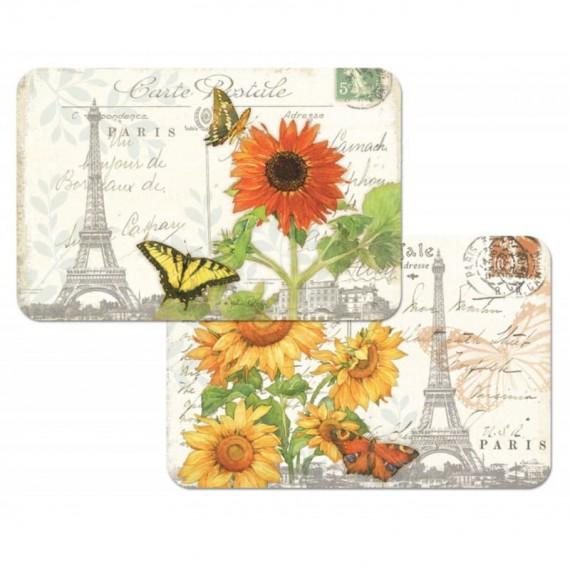 Набор сервировочных салфеток 4 шт Postcard