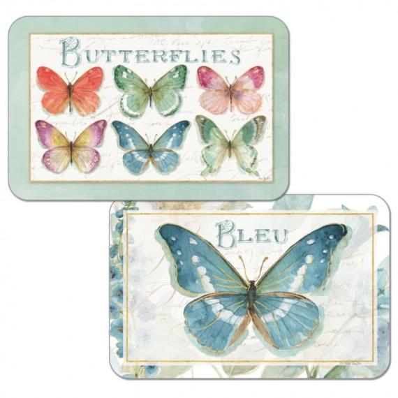 Набор сервировочных салфеток 4 шт Rainbow Batterflies