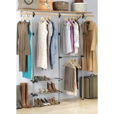 Регулируемая система для хранения в шкафу с 2 полками