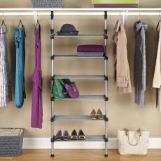 Регулируемая система для хранения в шкафу с 6 полками