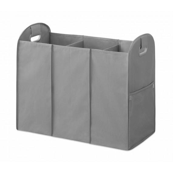 Складная корзина для белья с 3 отделениями и карманами