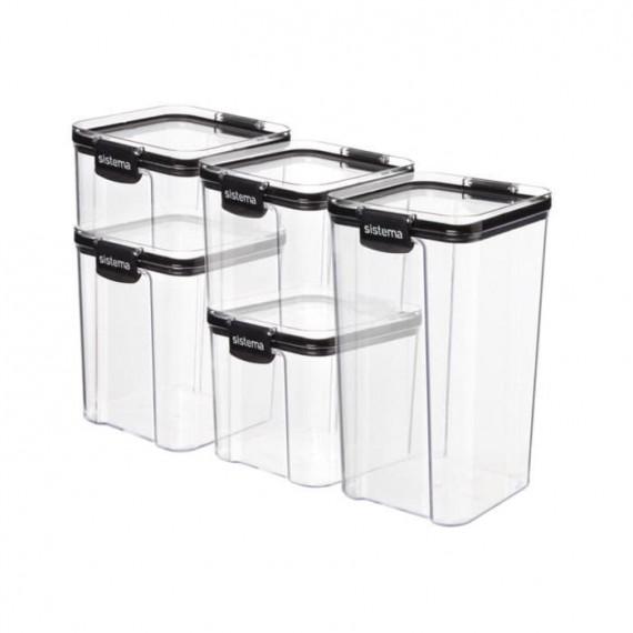 Набор из 5 квадратных контейнеров Ultra TRITAN