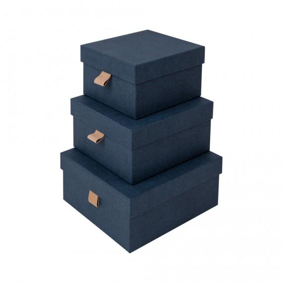 Набор из 3 квадратных коробок Tilly