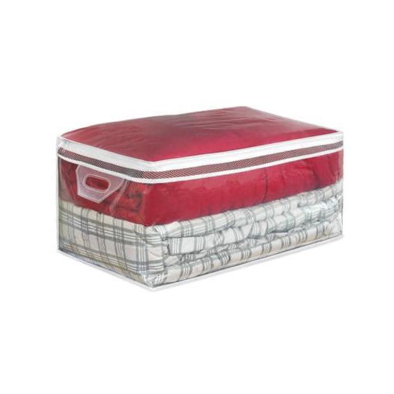 Пластиковый кофр для хранения одеял и больших вещей