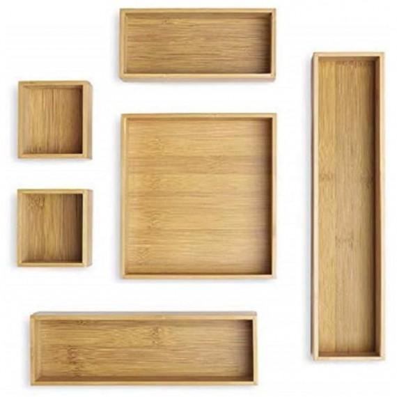 Набор из 6 бамбуковых лотков