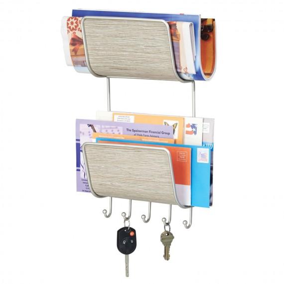 Настенный органайзер для ключей, журналов и писем