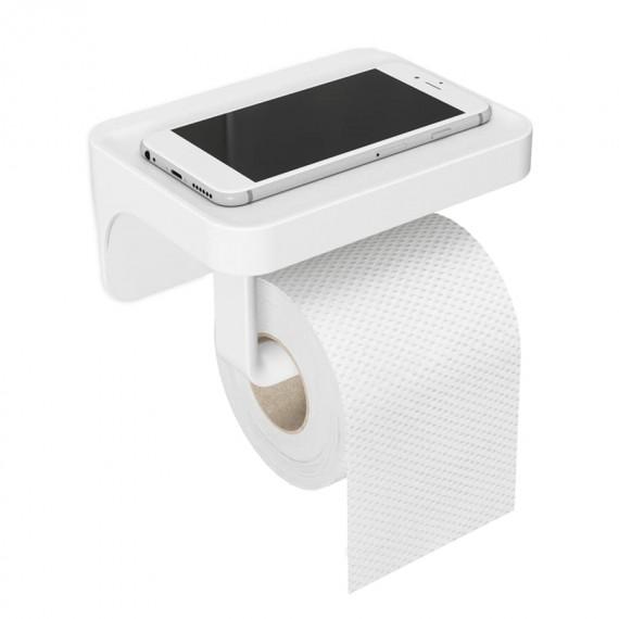 Держатель для туалетной бумаги с полочкой Flex