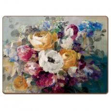 Пробковая сервировочная доска Autumn flowers, 2 шт