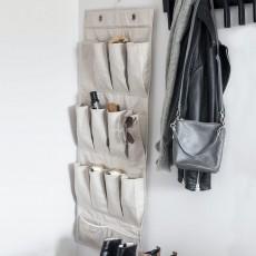 Подвесной органайзер с карманами для обуви и аксессуаров, бежевый