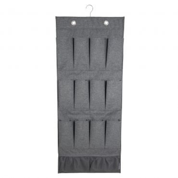 Подвесной органайзер с карманами для обуви и аксессуаров, серый