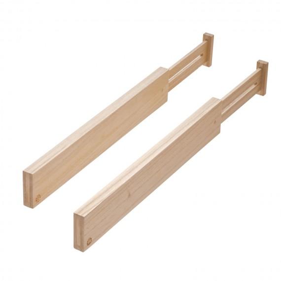 Набор из 2 деревянных раздвижных разделителей 6 см