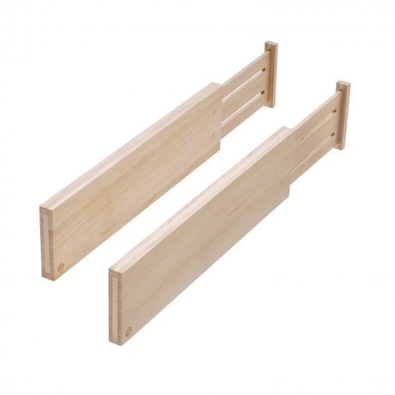 Набор из 2 деревянных раздвижных разделителей 10 см