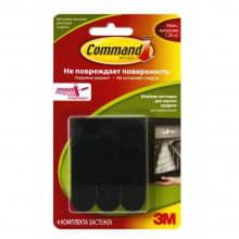 Клейкие застежки для картин Command черные