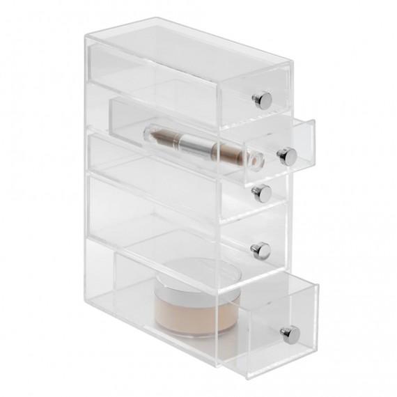 Узкий органайзер с 5 выдвижными ящиками Clarity