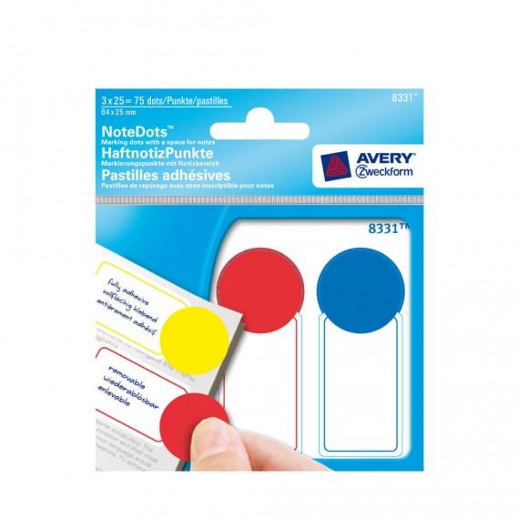 Круглые цветные этикетки с местом для записей