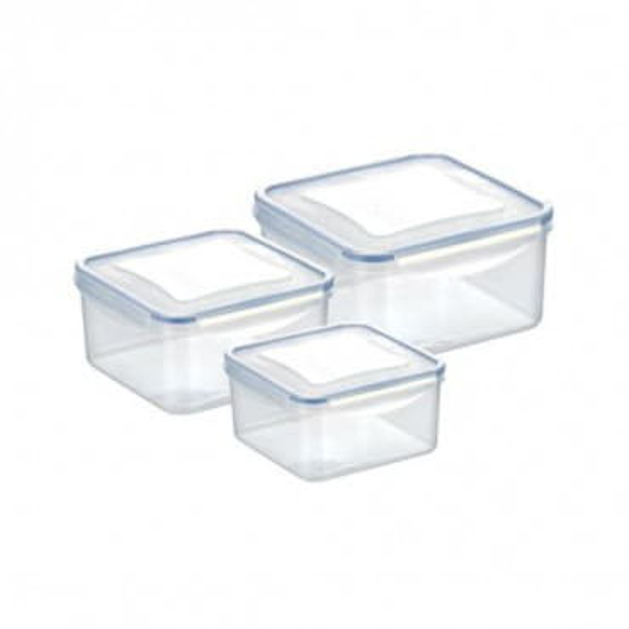 Набор из 3 квадратных контейнеров для продуктов FRESHBOX