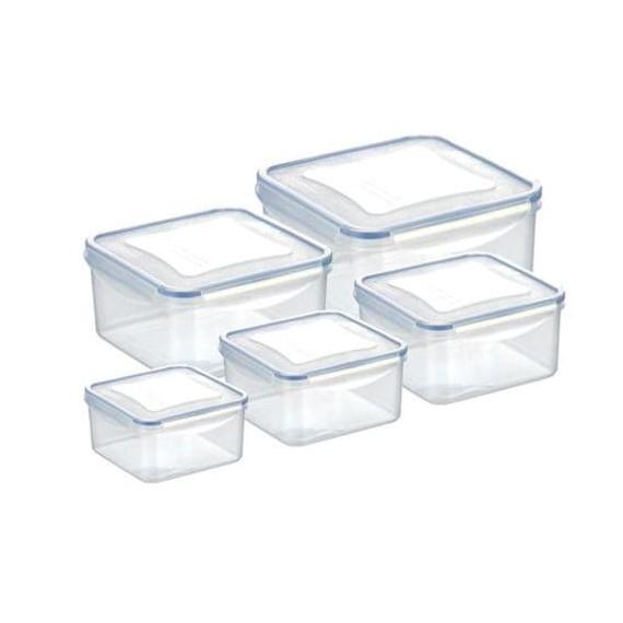 Набор из 5 квадратных контейнеров для продуктов FRESHBOX