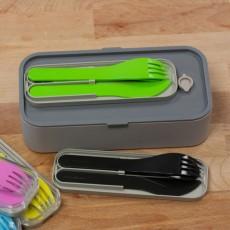 Набор из 3 пластиковых приборов в футляре MB Pocket Color