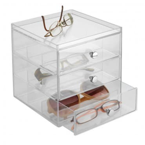 Органайзер для очков с 3 выдвижными ящиками Clarity Stacking
