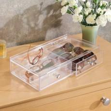 Горизонтальный органайзер для очков с 2 выдвижными ящиками