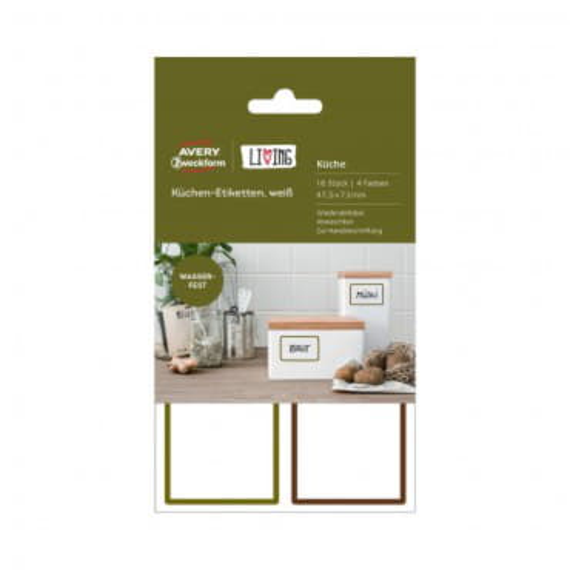 Удаляемые этикетки для кухни прямоугольные