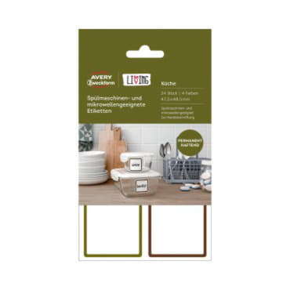 Перманентные этикетки для кухни термостойкие
