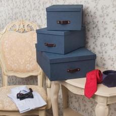 Набор из 3 коробок для хранения INGE