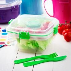 Контейнер для салата с разделителями и приборами Salad To Go