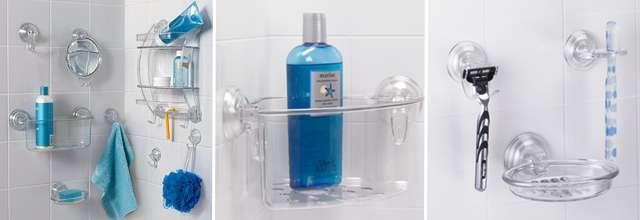 Аксессуары для ванной на присосках