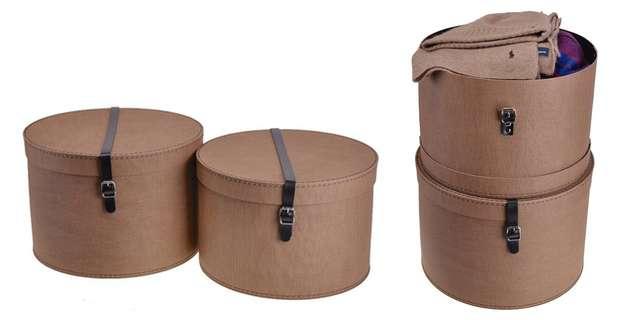 Круглые коробки для хранения вещей