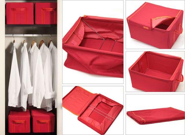 Тканевые ящики для хранения вещей