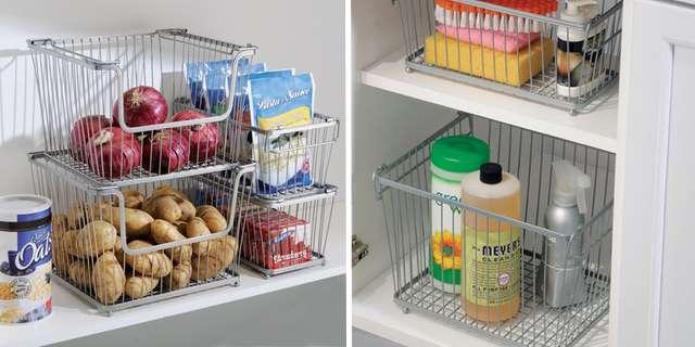 Корзины для хранения на кухне