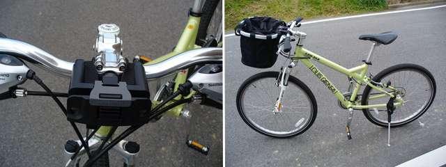 Крепление корзины для велосипеда