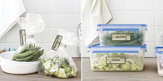Этикетки для замороженных продуктов