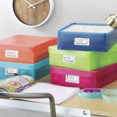 Набор пластиковых коробок для документов