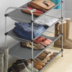 4-х уровневая текстильная полка для обуви